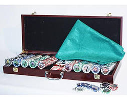 Набор для игры в покер 500ф с номиналом.