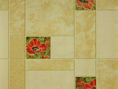 Обои на стену, бумажные, влагостойкие,B56,4 Маки 6410-13, 0,53*10м