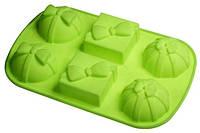 """Силиконовая форма для выпечки кекса """"Бантики"""" 28.5*18*4 см"""