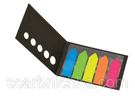 """Индексы регистры """"Leo"""" пластиковые (5цветов*20шт) """"Стрелки"""" L-1215, фото 2"""
