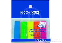 """Индексы регистры """"Economix"""" (5цветов*25шт) пластиковые Е20945"""