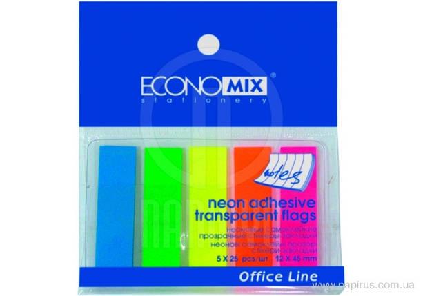 """Индексы регистры """"Economix"""" (5цветов*25шт) пластиковые Е20945, фото 2"""