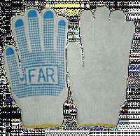 Перчатки рабочие с ПВХ, Китай, белые, XL размер