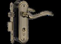 Комплект A-2001 PZ: ручка на планке под PZ + механизм 62,5 мм + цилиндр 30/30 (3 кл.) A-2001 PZ AB