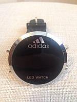 Спортивные часы Adidas LED WATCH, Адидас Лед черные ( код: IBW027B )