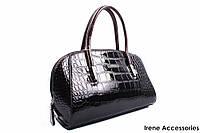 Стильная женская сумочка TOSOCO цвет коричневый, эко-лак
