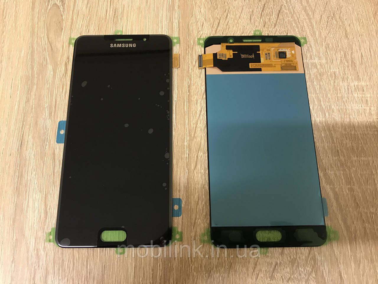 Дисплей на Samsung A710 Galaxy A7(2016) Чёрный(Black),GH97-18229B, Super AMOLED!