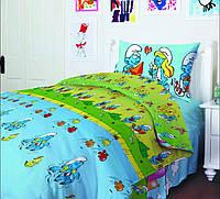 Комплект постельного белья ТЕП 951 Смурфики Бязь 150*215