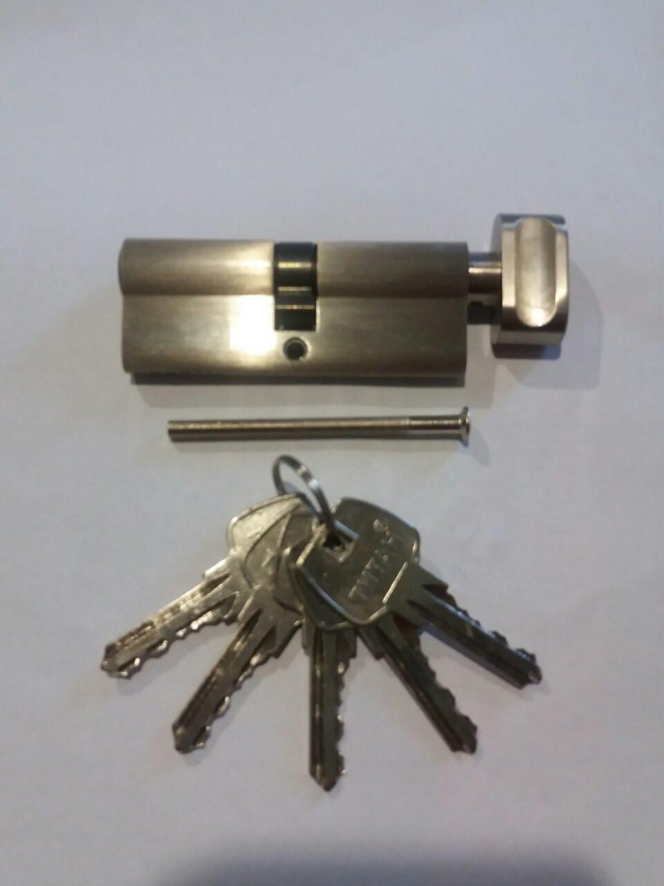 Цилиндровый механизм ТИТАН 60(30*30)-C SN  ключ-поворотник
