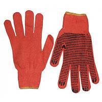 Перчатки рабочие с ПВХ, Китай, оранжевые, L размер