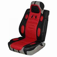 Накидка сидения Vitol F 19002 BK/RD черно-красная полиэстер (FD 102075)