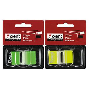 """Закладка """"Axent"""" 25*45мм, 50шт неон 2446 желтая, фото 2"""