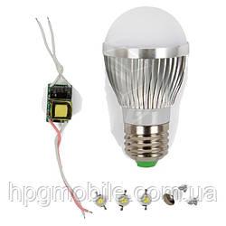 Светодиодная (LED) лампа SQ-Q01 3 Вт, холодный белый, E27 (комплект)