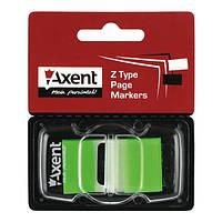 "Закладка ""Axent"" 25*45мм, 50шт неон 2446 зеленый"
