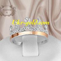 Очень красивое кольцо серебро со вставками золота