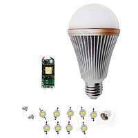 Светодиодная (LED) лампа SQ-Q24 9 Вт, холодный белый, E27 (комплект)