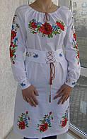 """Платье вишитое """"Панночка"""" с манжетом и корсетным поясом ( арт. PK16-54.2.15 ), фото 1"""