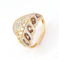 Золотое кольцо с куб. цирконием