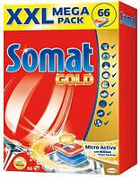 Таблетки для посудомоечных машин Somat Голд 66 шт.