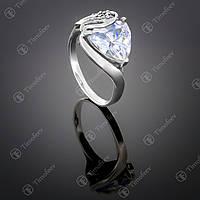 Серебряное кольцо с белым цирконием. Артикул П-127