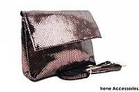 Элегантная женская сумочка Bonilarti Oalengi цвет бронза, эко-кожа
