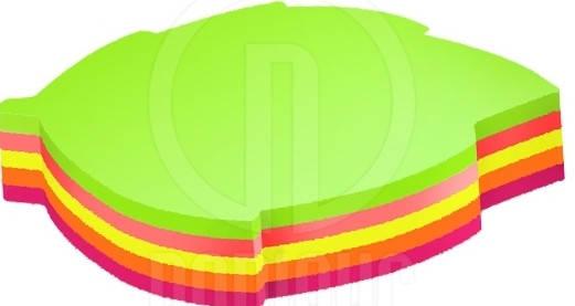 """Стикеры """"Economix"""" 45х50, 4 цвета, 80листов 20953 """"Листок"""", фото 2"""
