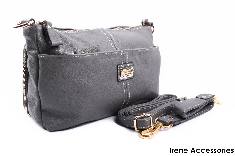 Стильная женская сумочка Bonilarti Oalengi цвет серый, эко-кожа