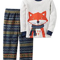 Комплект Carters с флисовыми штанами для мальчика лиса