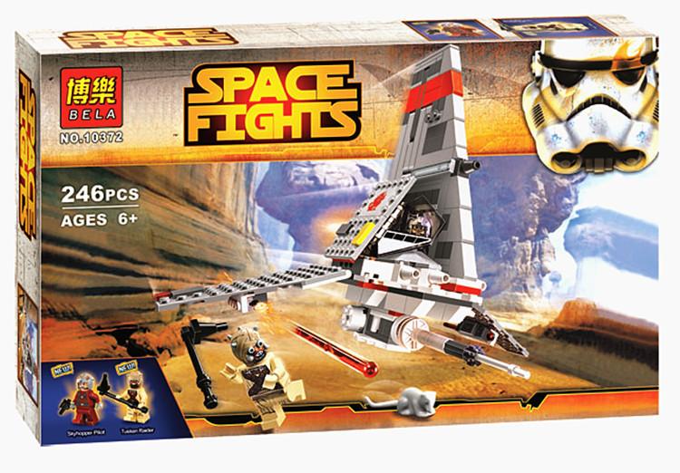 Конструктор Bela 10372 Звездные войны Space Fights Космический истребитель 246 деталей
