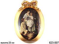 """Панно овальное """"Медальон"""" 23*16 см ed623-007"""