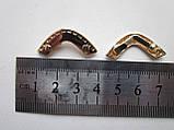 Окончание для ремня 30 мм золото, фото 2