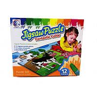 Пазл-раскраска Jigsaw Puzzle 12 эл. «Домашние животные»