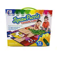 Пазл-раскраска Jigsaw Puzzle 12 эл. «Новый год»