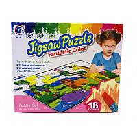 Пазл-раскраска Jigsaw Puzzle 18 эл. «Сафари»