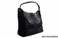 Модельная женская сумочка Bonilarti Oalengi цвет черный, из двух видов эко-кожи