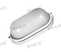 Светильник влагозащищенный BUKO E27 60W овал белый, черный IP54