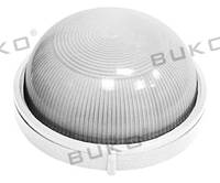 Светильник влагозащищенный BUKO E27 100W круглый белый, черный IP54