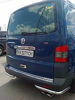 Защита заднего бампера для Volkswagen T5 Transporter, Caravelle, Multivan