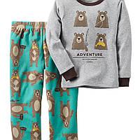 Комплект Carters с флисовыми штанами для мальчика мишки