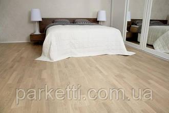 Паркетная доска Focus Floor Дуб Ostro White 3-полосный , белый матовый лак