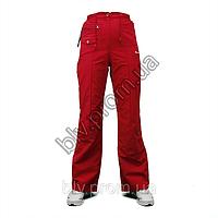 Женские брюки из тонкой жатой плащевки A61