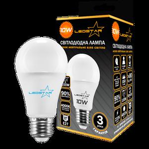 Светодиодная лампа LEDSTAR, 10W, E27, A60, 850lm, груша, 4000К, матовая