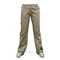 Женские  стрейчевые хб. брюки полубаталы AT025, фото 1