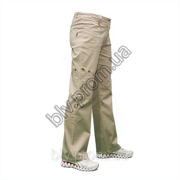 Женские  стрейчевые хб. брюки полубаталы AT1025