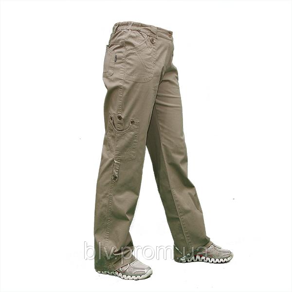 Женские  стрейчевые хб. брюки полубаталы по низким ценам AT025