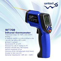 Пирометр Wintact WT700 (от -50 до 700 ℃; EMS 0,1-1,0), Кейс (12:1)