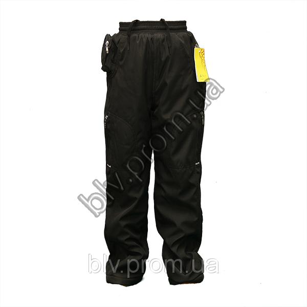 Зимние теплые подростковые брюки на флисе плащевка AHR76P