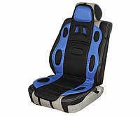 Накидка сидения Vitol F 19002 FL/BK черно-синяя полиэстер (FD 102075)