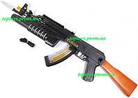 Автомат Калашникова АК-47, звук, свет, подвижный ствол и патроны, длина 73см