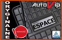 Резиновые коврики RENAULT ESPACE 2015-  с лого